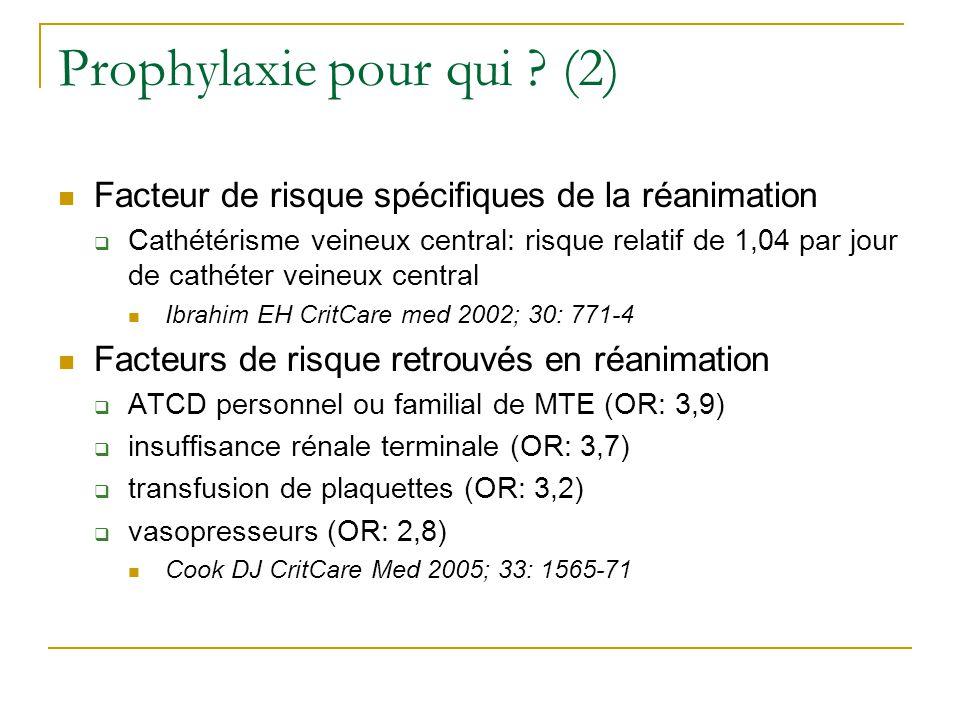 Prophylaxie pour qui (2)