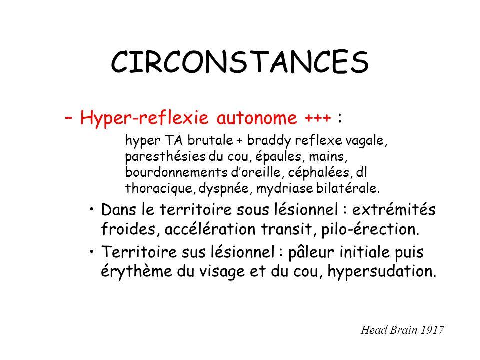 CIRCONSTANCES Hyper-reflexie autonome +++ :