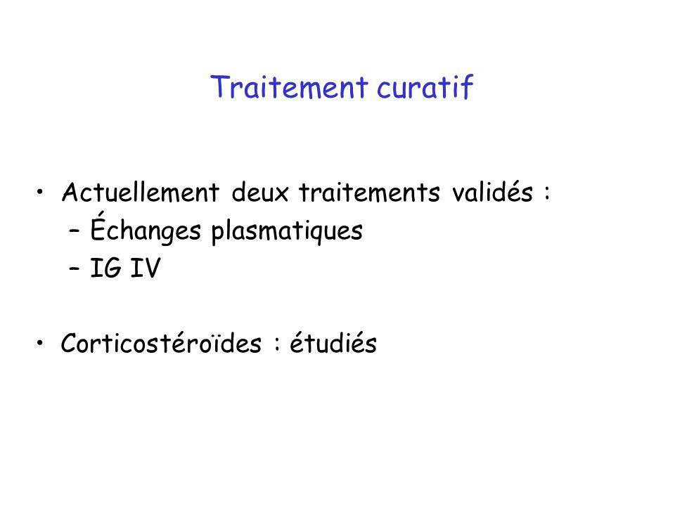 Traitement curatif Actuellement deux traitements validés :
