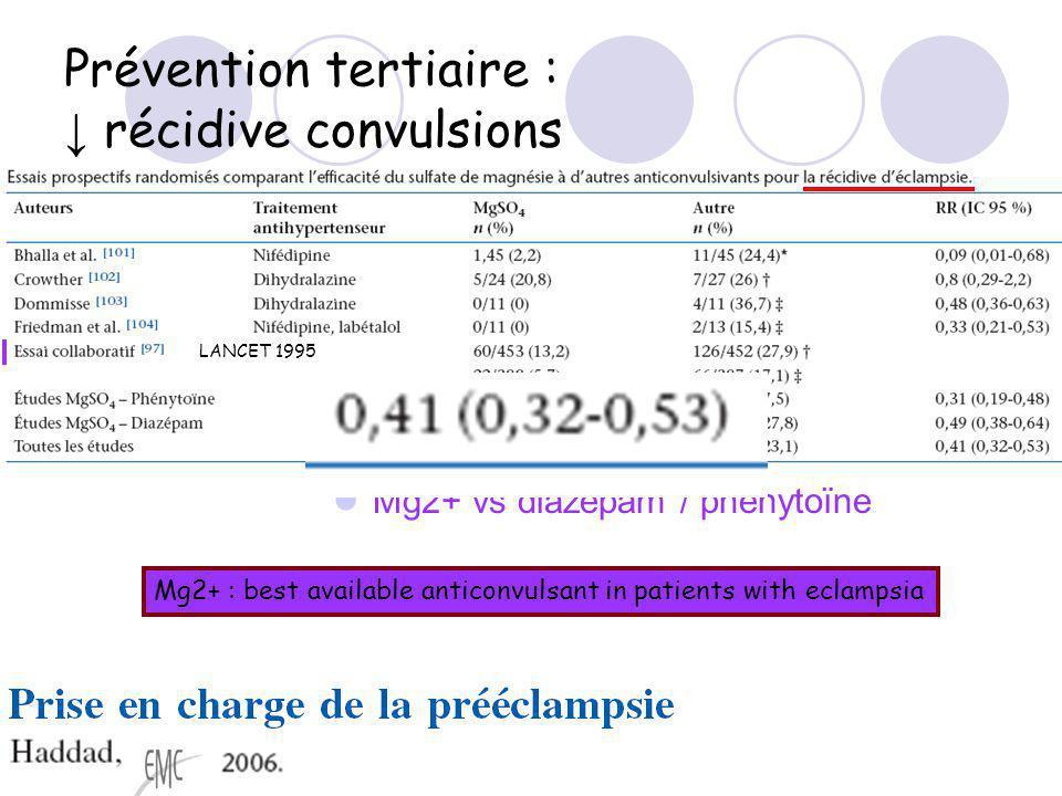 Prévention tertiaire : ↓ récidive convulsions