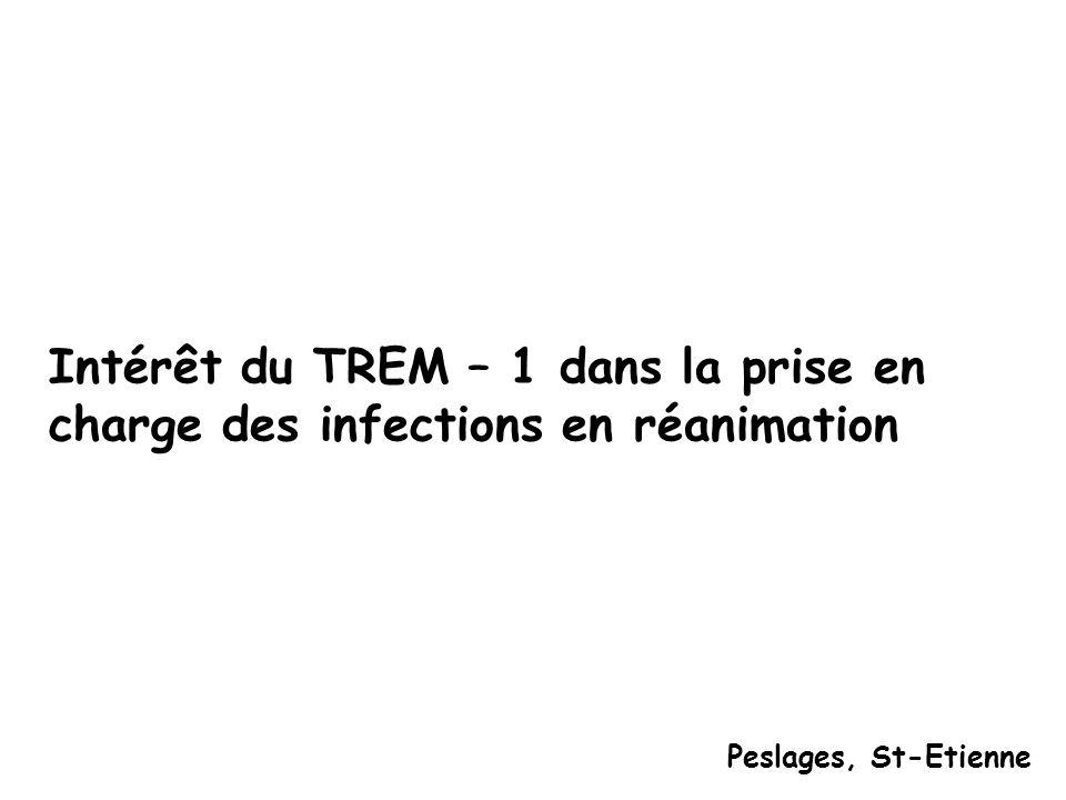 Intérêt du TREM – 1 dans la prise en charge des infections en réanimation