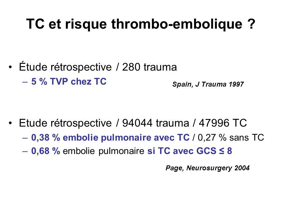 TC et risque thrombo-embolique