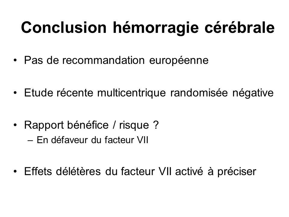 Conclusion hémorragie cérébrale
