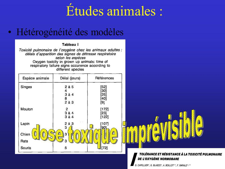 dose toxique imprévisible