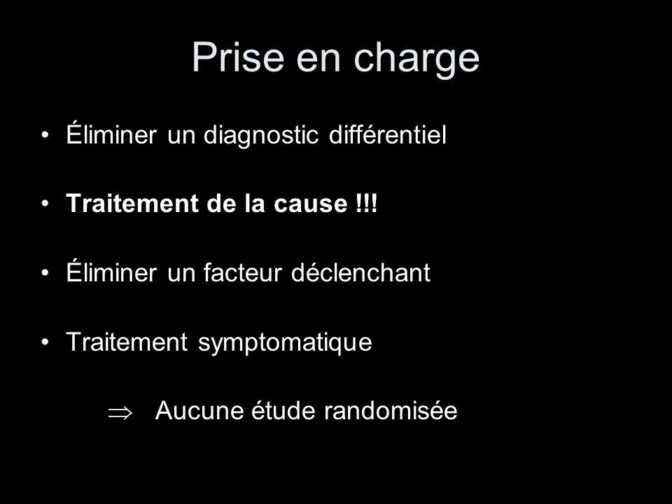 Prise en charge Éliminer un diagnostic différentiel