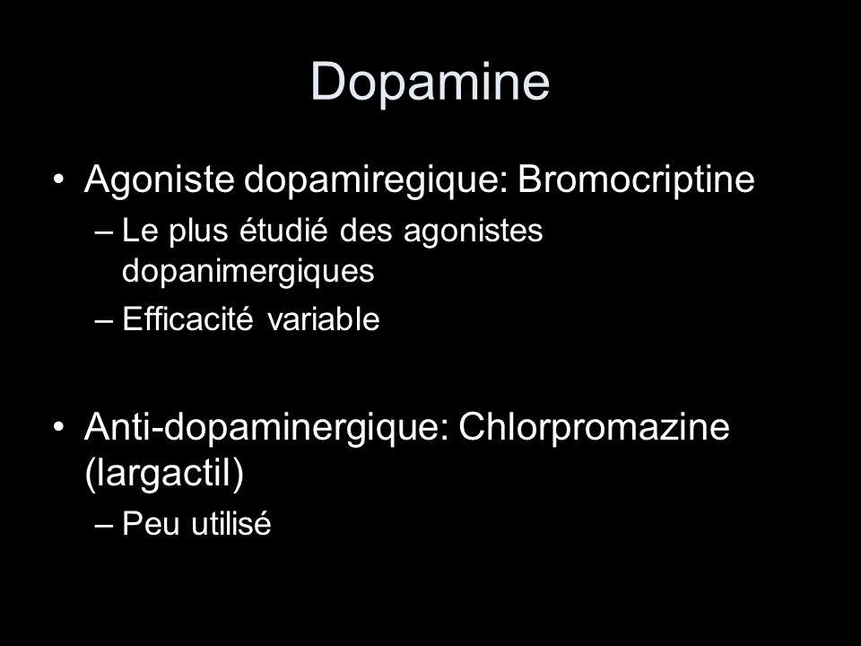 Dopamine Agoniste dopamiregique: Bromocriptine