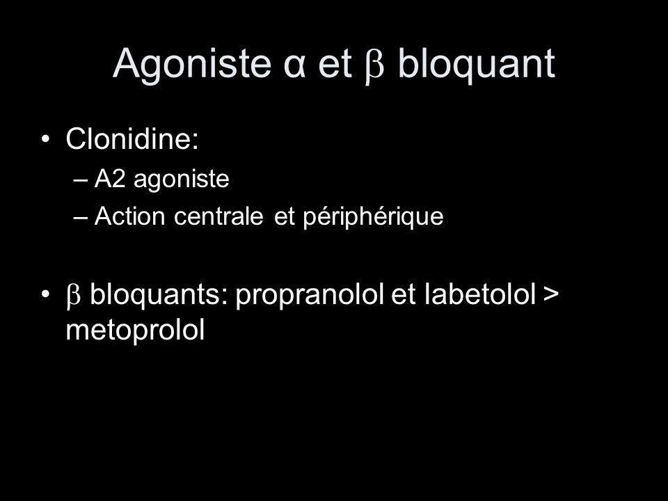 Agoniste α et  bloquant