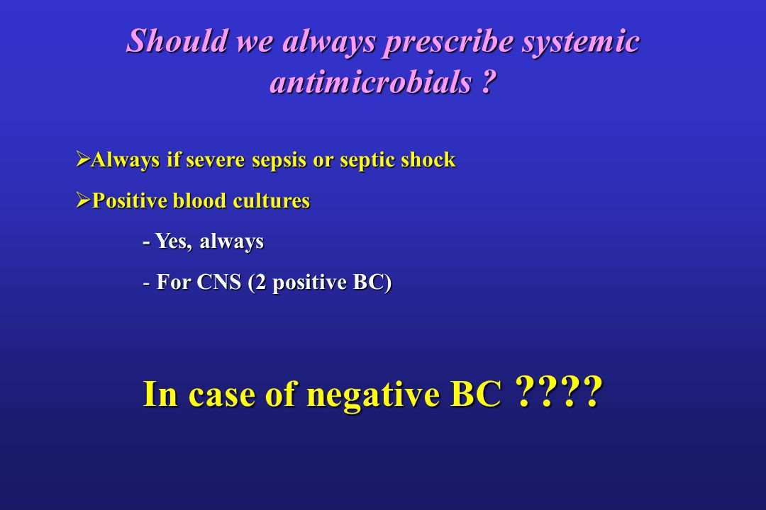 Should we always prescribe systemic antimicrobials