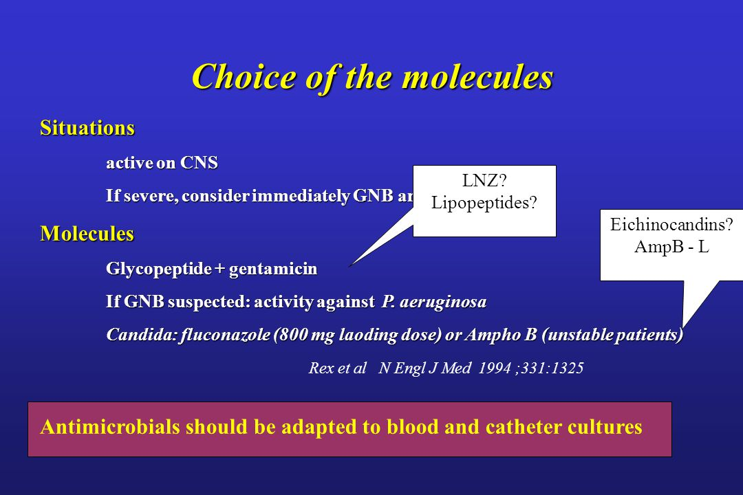Choice of the molecules