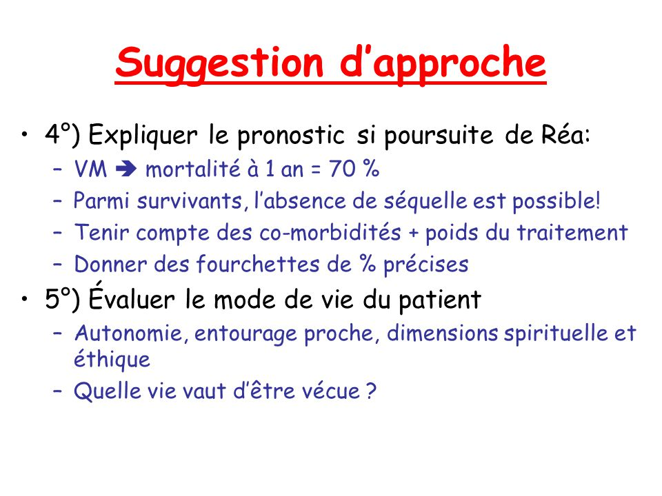 Suggestion d'approche