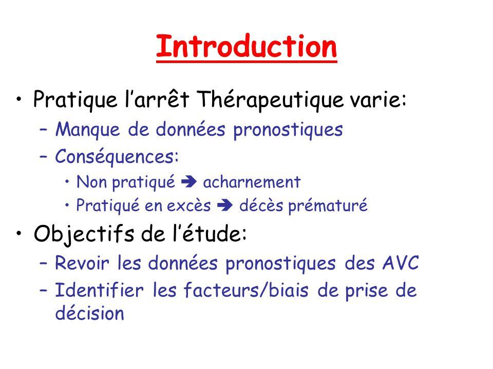 Introduction Pratique l'arrêt Thérapeutique varie: