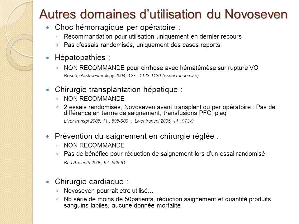 Autres domaines d'utilisation du Novoseven
