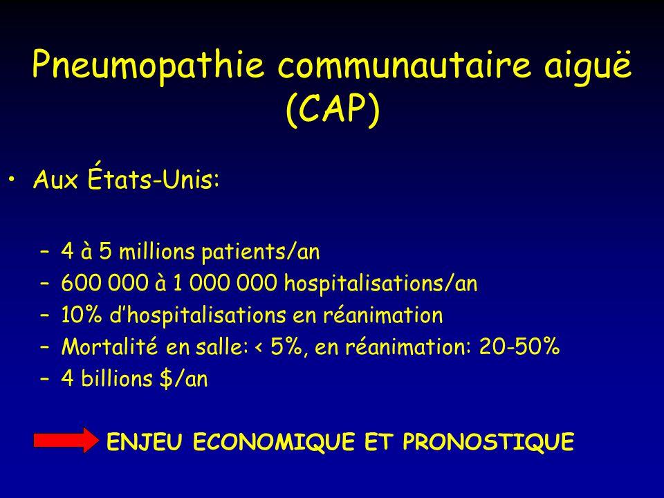 Pneumopathie communautaire aiguë (CAP)