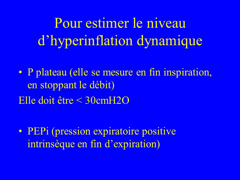 Pour estimer le niveau d'hyperinflation dynamique