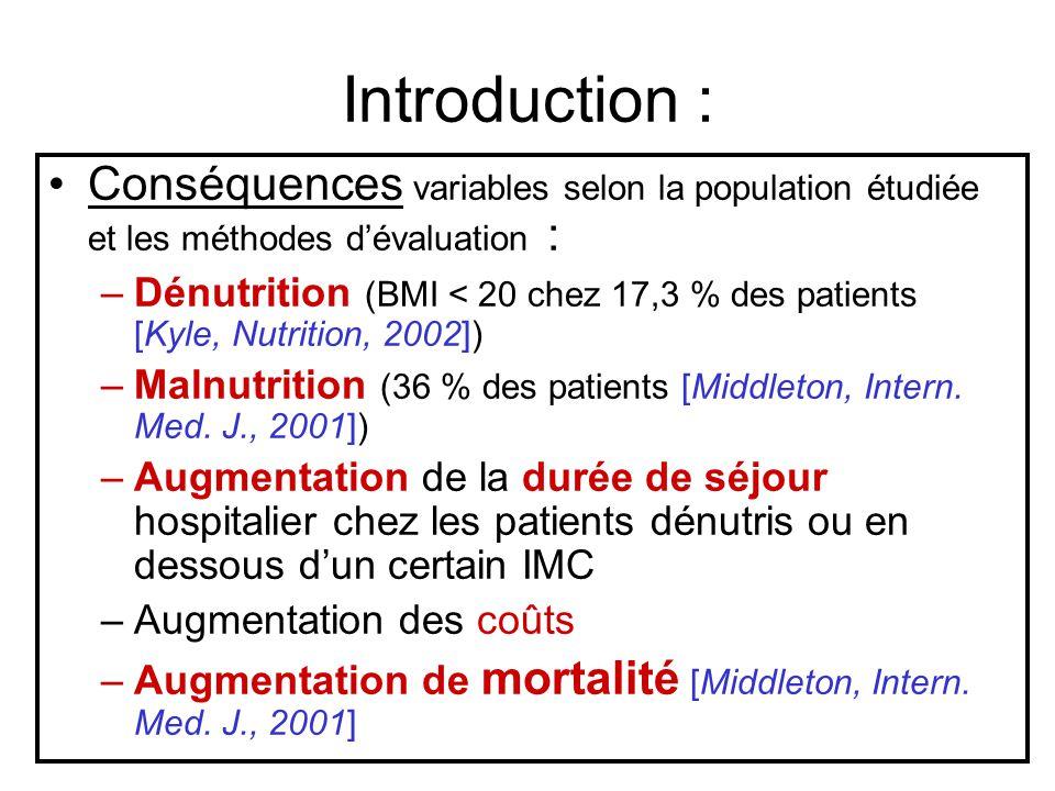 Introduction : Conséquences variables selon la population étudiée et les méthodes d'évaluation :