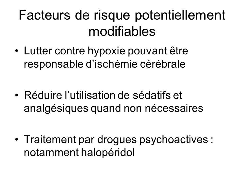 Facteurs de risque potentiellement modifiables
