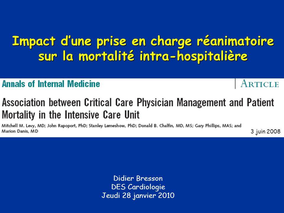 Didier Bresson DES Cardiologie Jeudi 28 janvier 2010