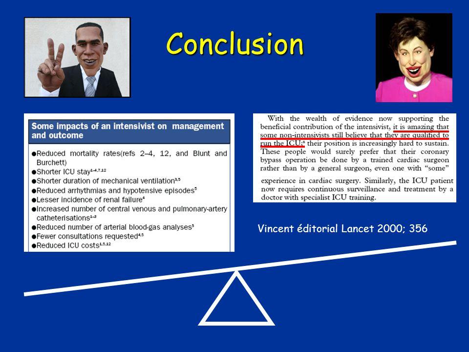 Conclusion Vincent éditorial Lancet 2000; 356