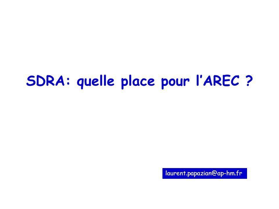 SDRA: quelle place pour l'AREC
