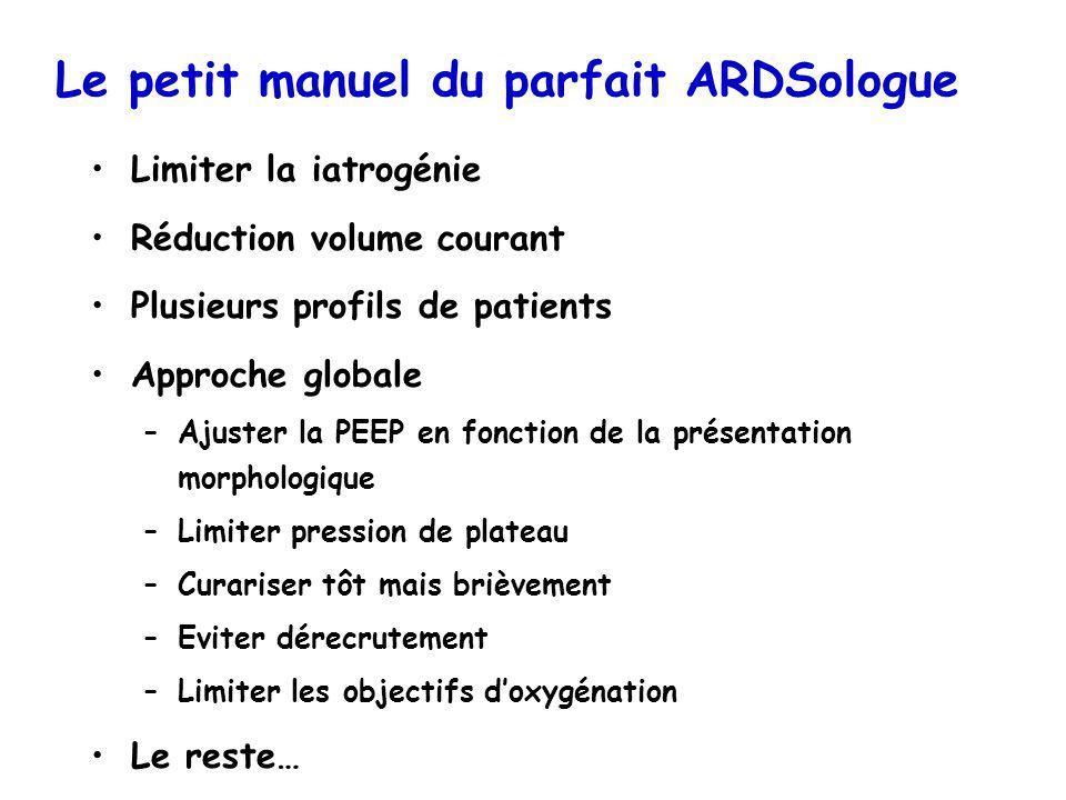Le petit manuel du parfait ARDSologue