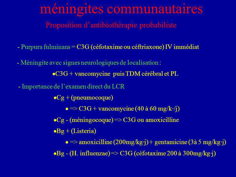 méningites communautaires