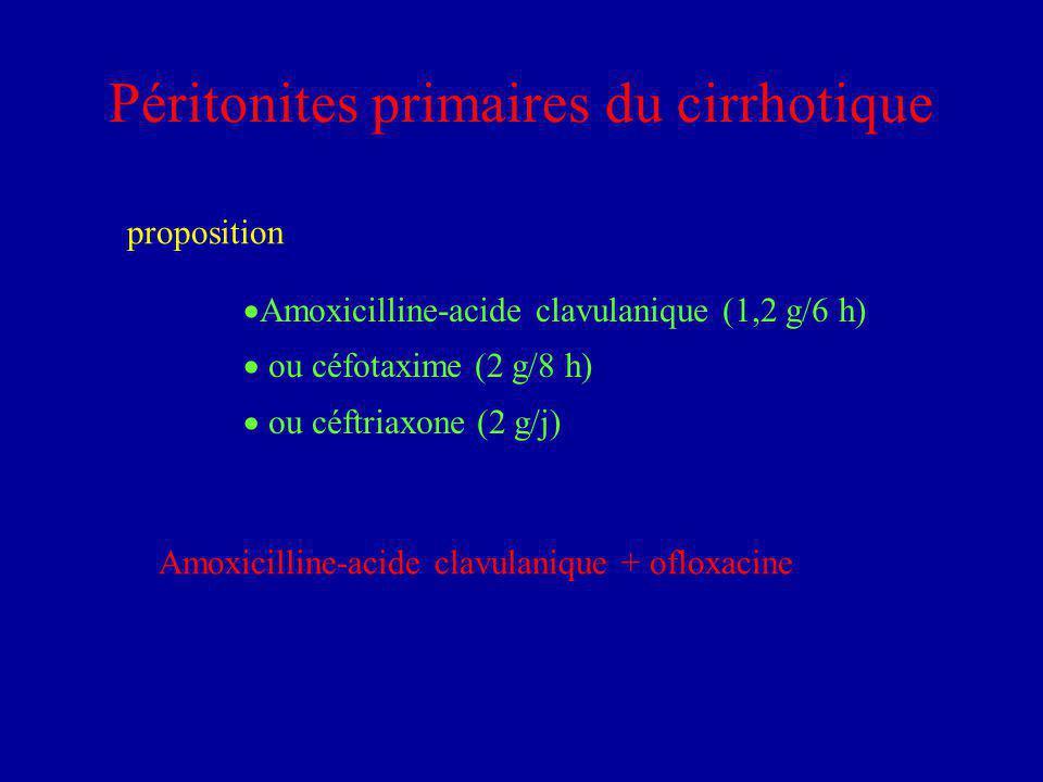 Péritonites primaires du cirrhotique