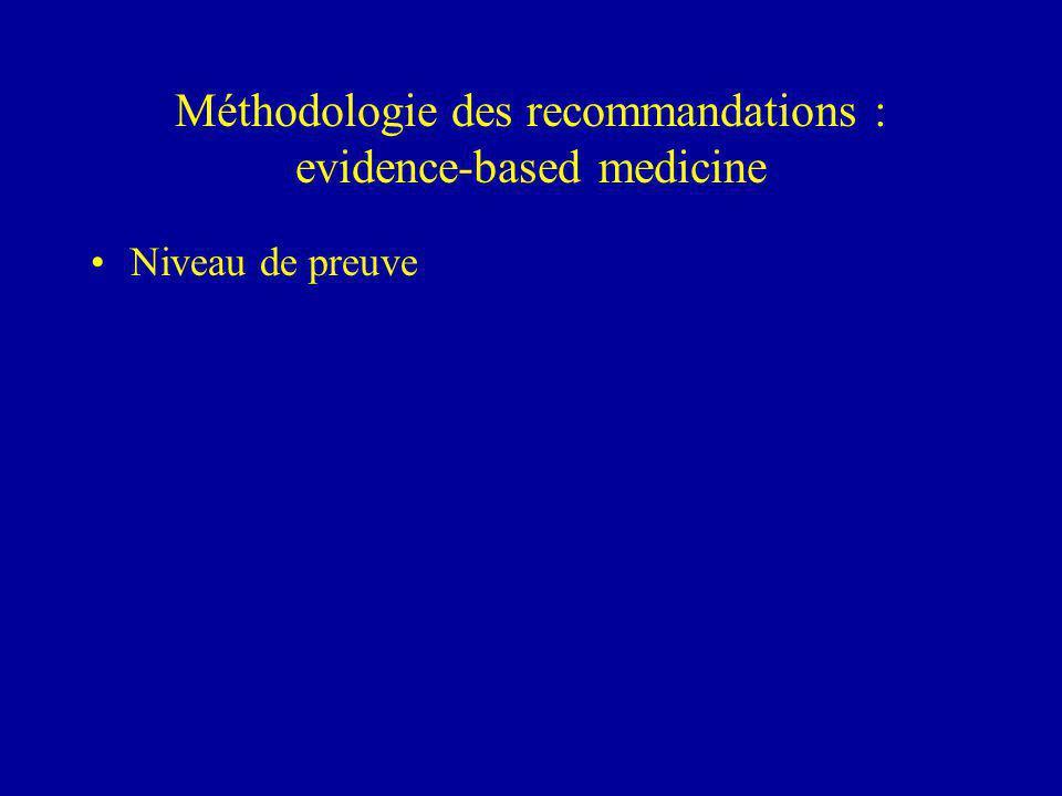 Méthodologie des recommandations : evidence-based medicine