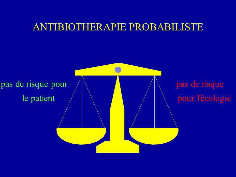 ANTIBIOTHERAPIE PROBABILISTE