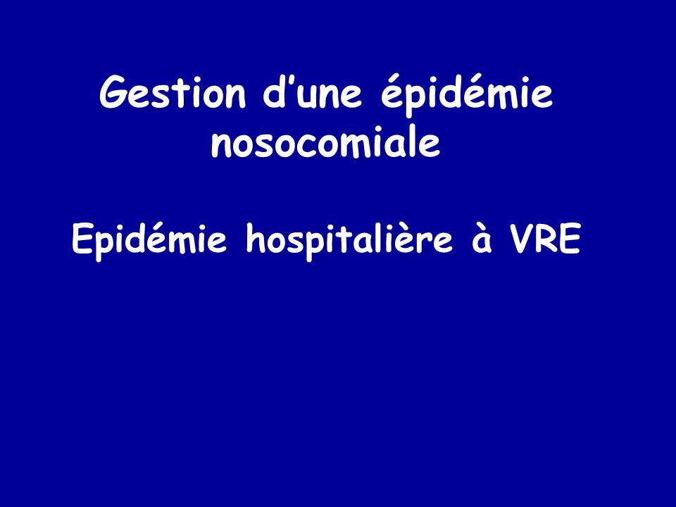 Gestion d'une épidémie nosocomiale Epidémie hospitalière à VRE