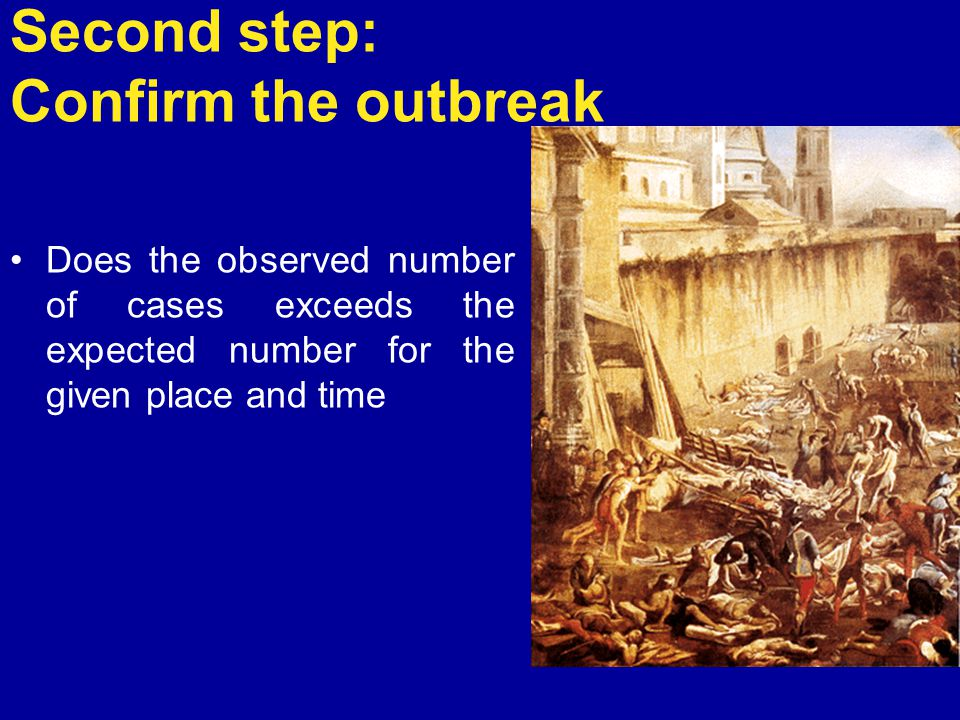 Second step: Confirm the outbreak