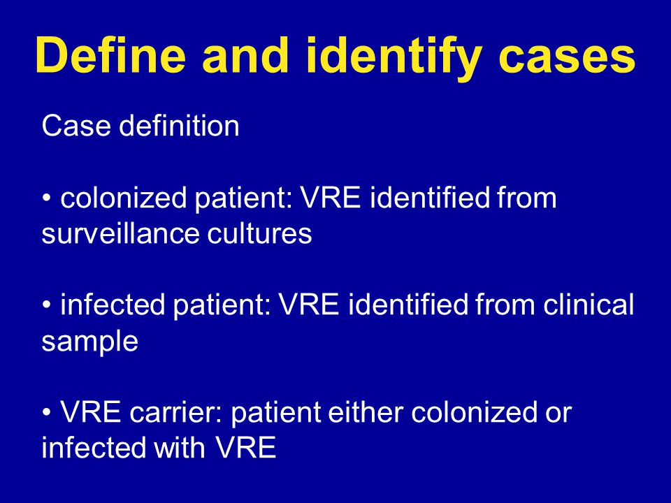 Define and identify cases