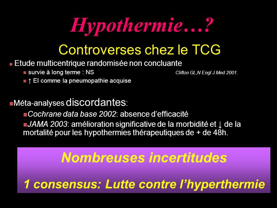 Nombreuses incertitudes 1 consensus: Lutte contre l'hyperthermie