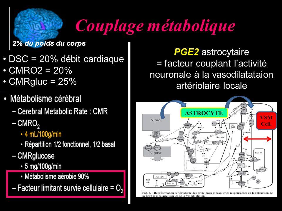 Couplage métabolique PGE2 astrocytaire