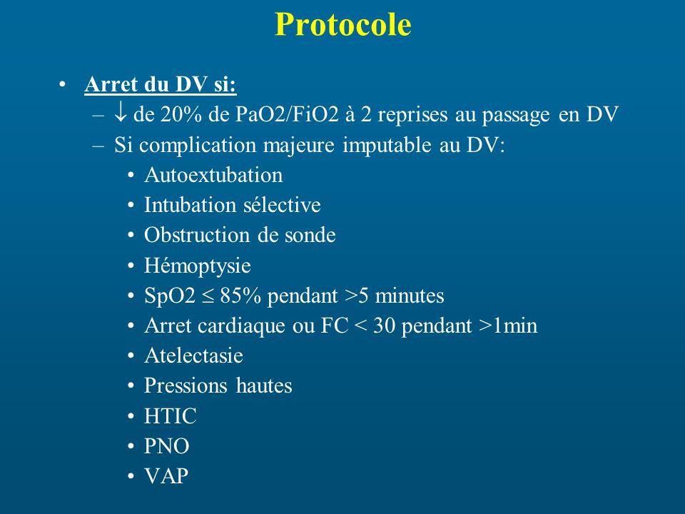 Protocole Arret du DV si: