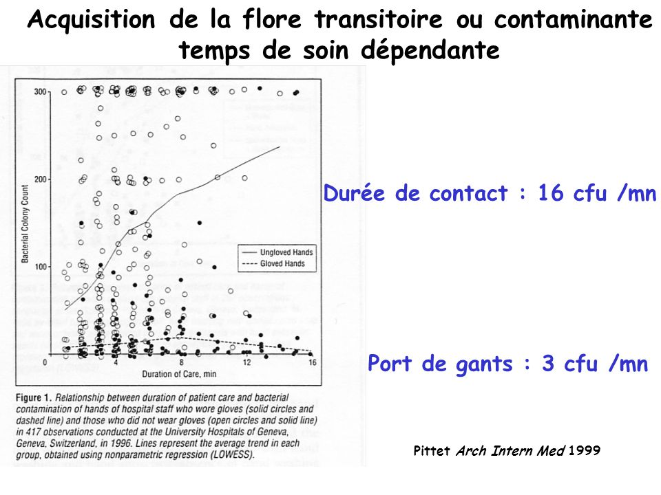 Acquisition de la flore transitoire ou contaminante