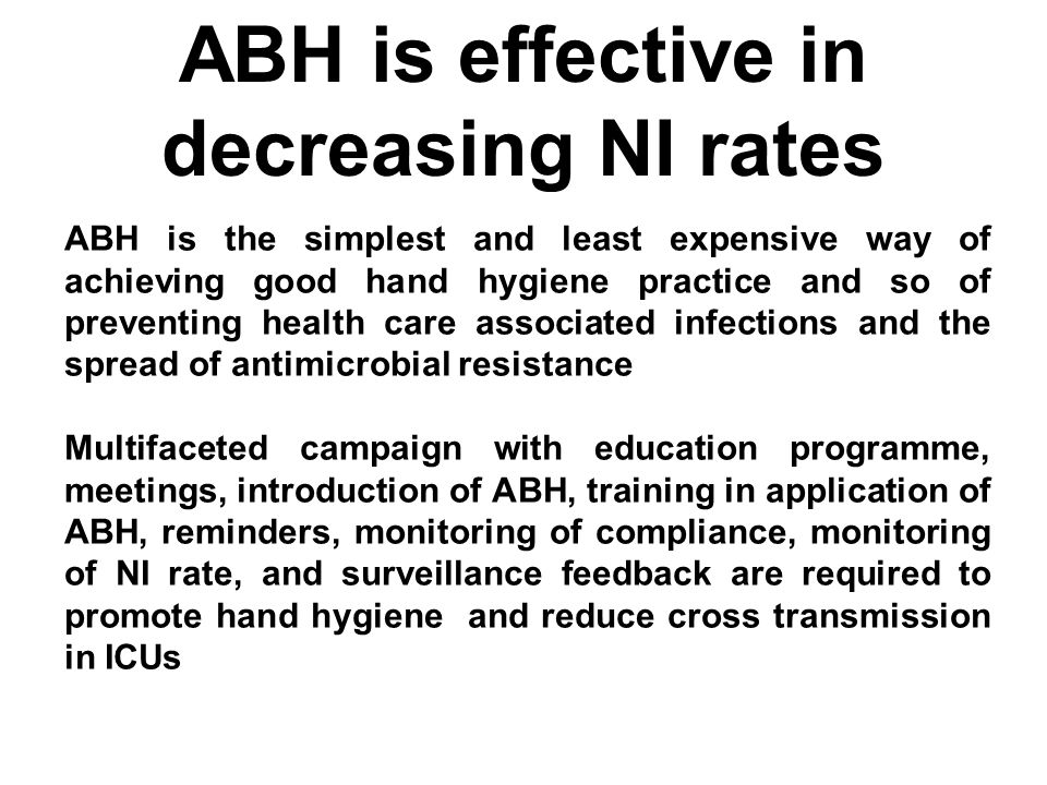 ABH is effective in decreasing NI rates