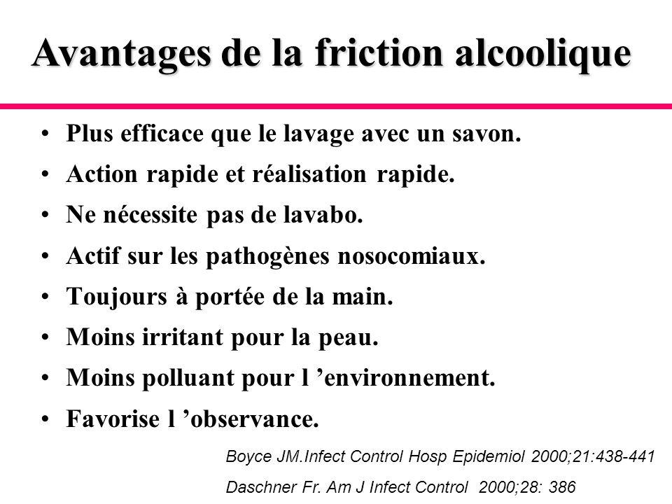 Avantages de la friction alcoolique