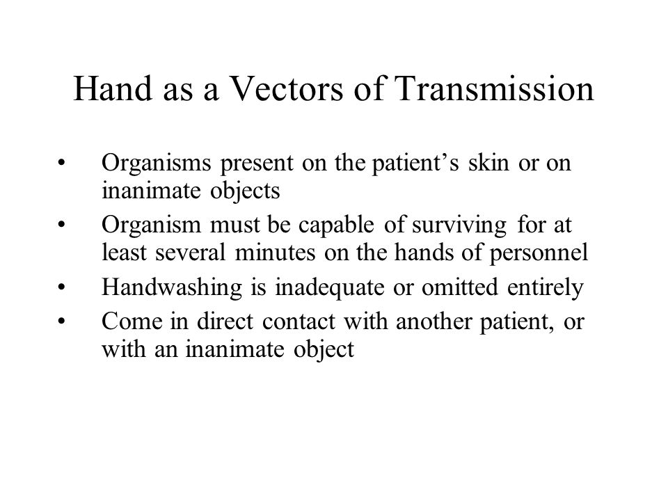 Hand as a Vectors of Transmission