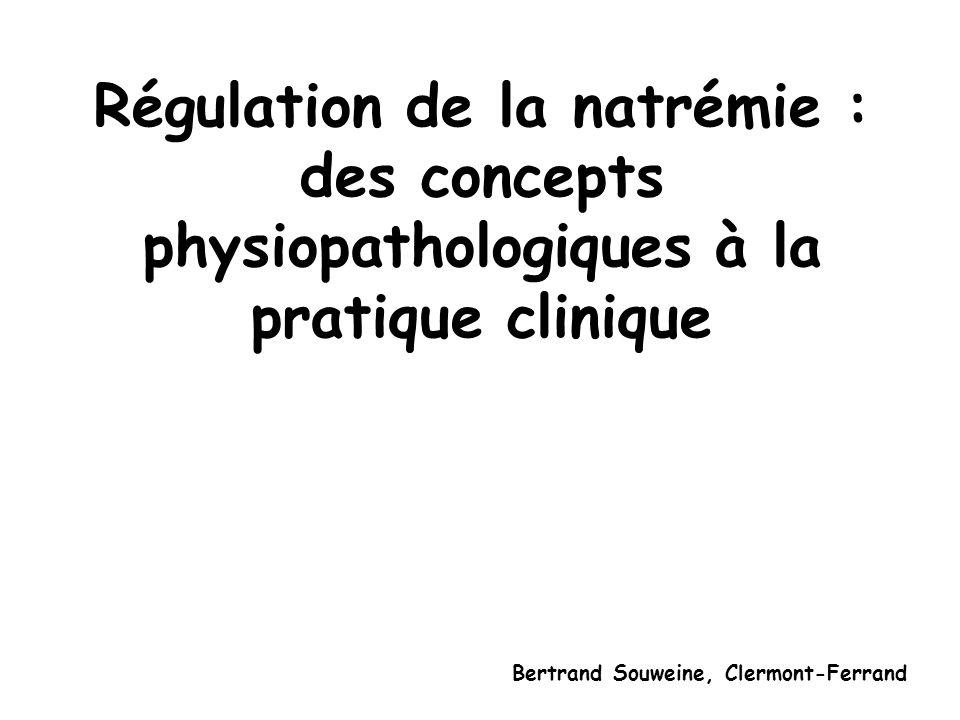 Régulation de la natrémie :