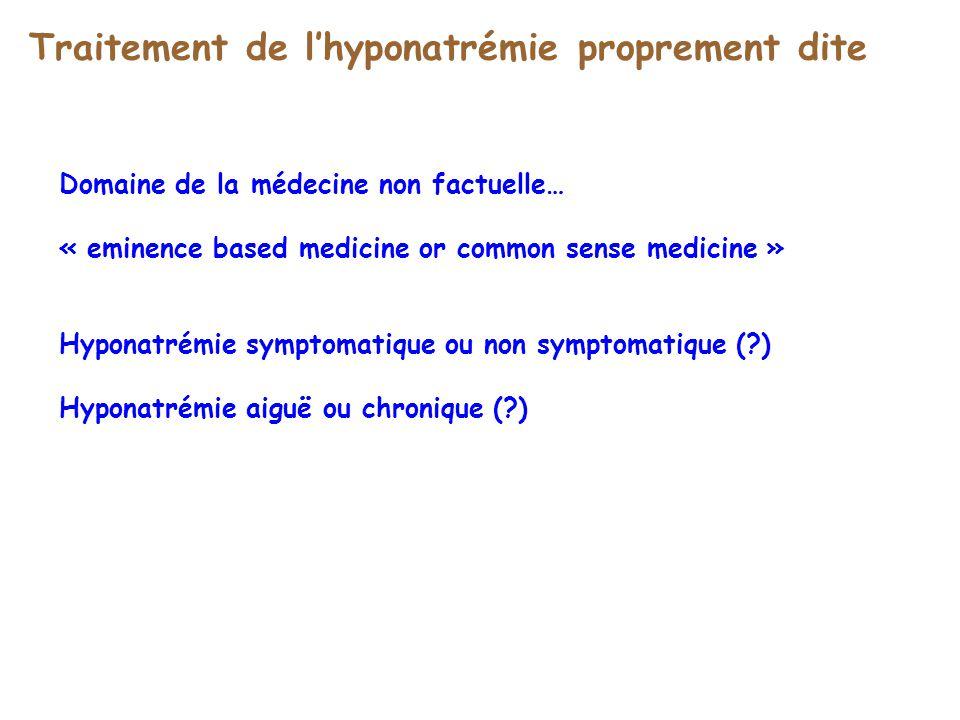 Traitement de l'hyponatrémie proprement dite