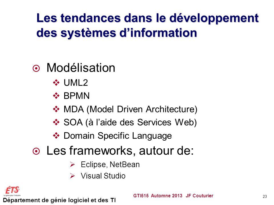 Les tendances dans le développement des systèmes d'information