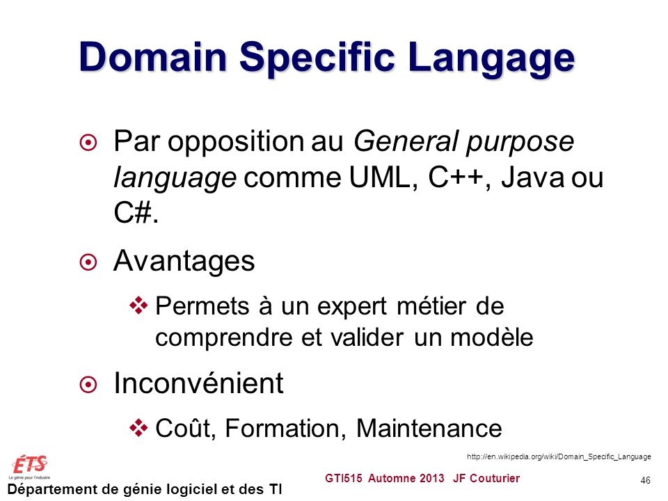 Domain Specific Langage