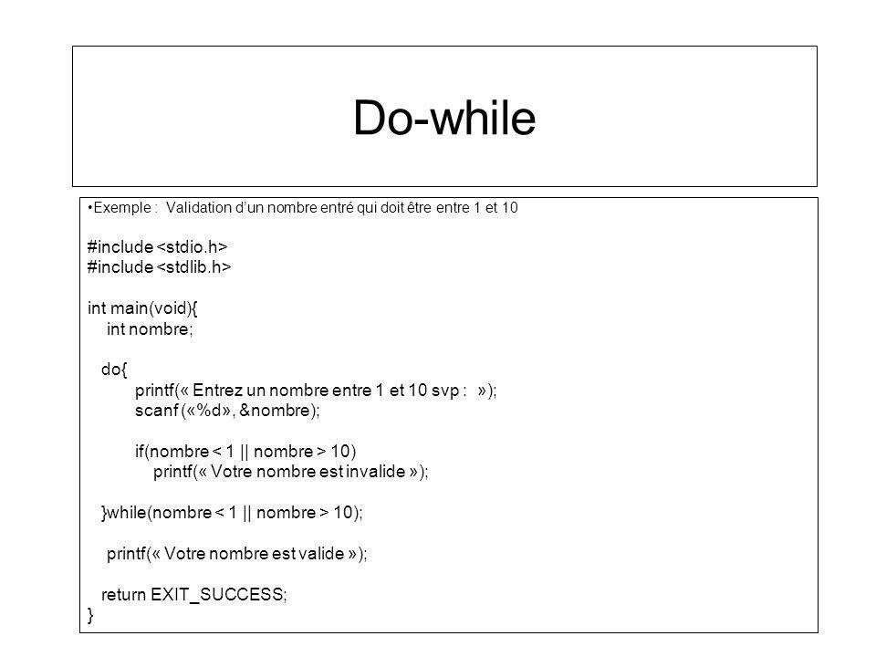 Do-while #include <stdio.h> #include <stdlib.h>