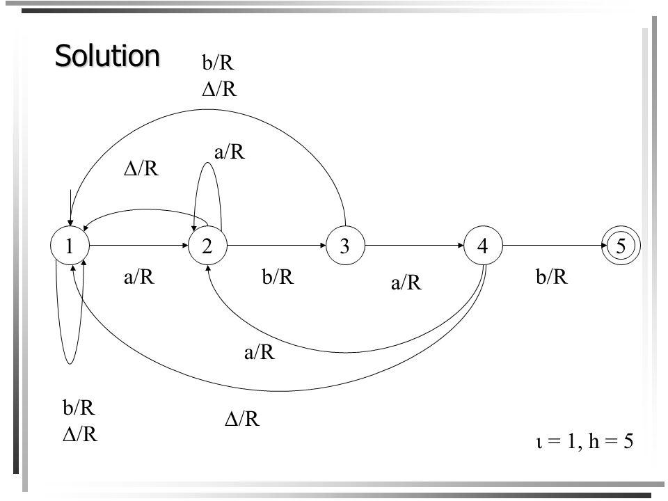 Solution 1 5 2 3 4 b/R /R a/R /R b/R  = 1, h = 5