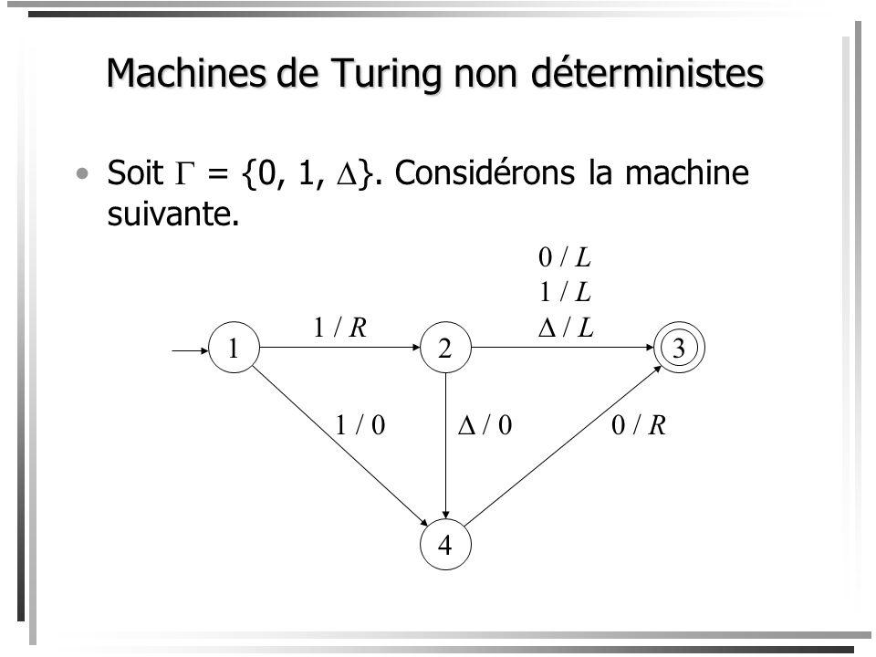 Machines de Turing non déterministes