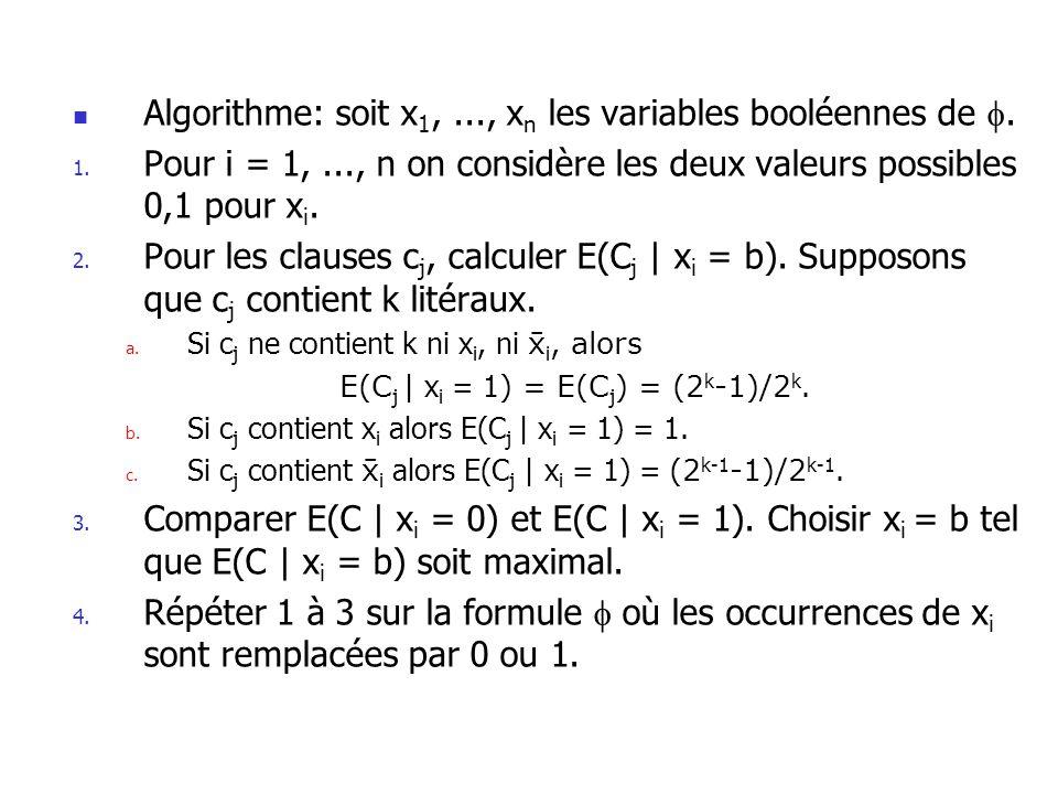 E(Cj | xi = 1) = E(Cj) = (2k-1)/2k.