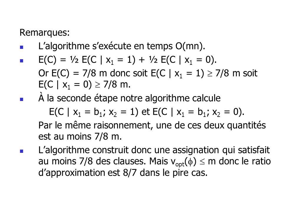 E(C | x1 = b1; x2 = 1) et E(C | x1 = b1; x2 = 0).
