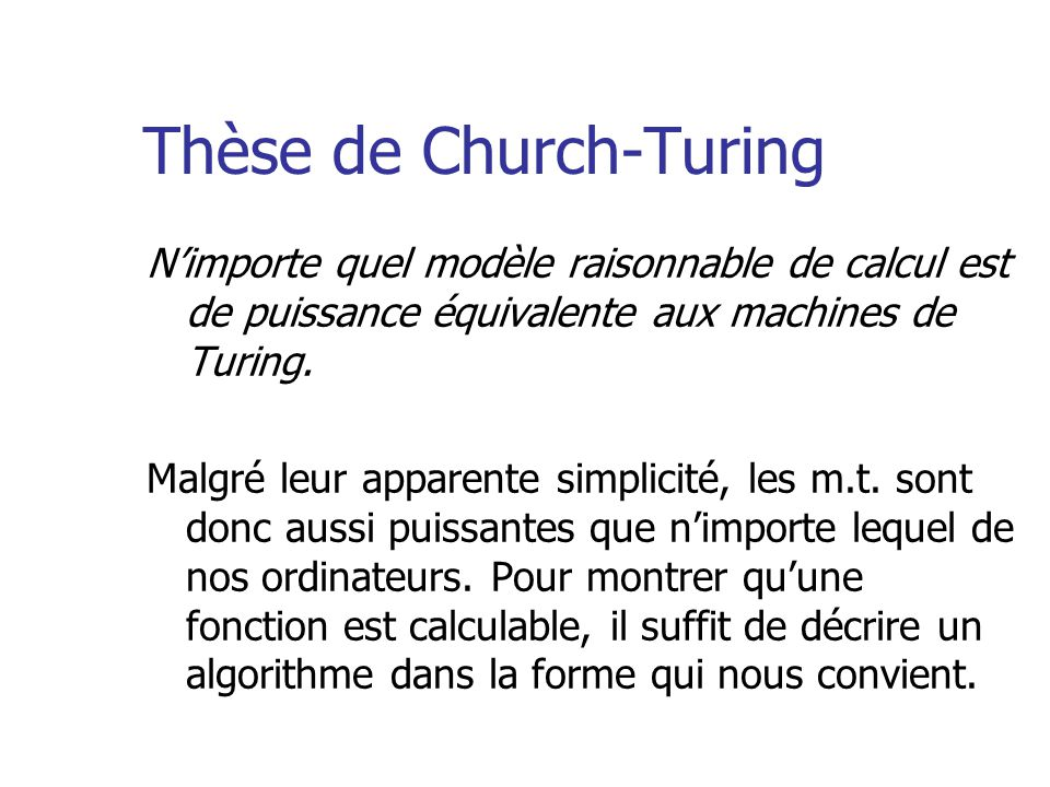 Thèse de Church-Turing