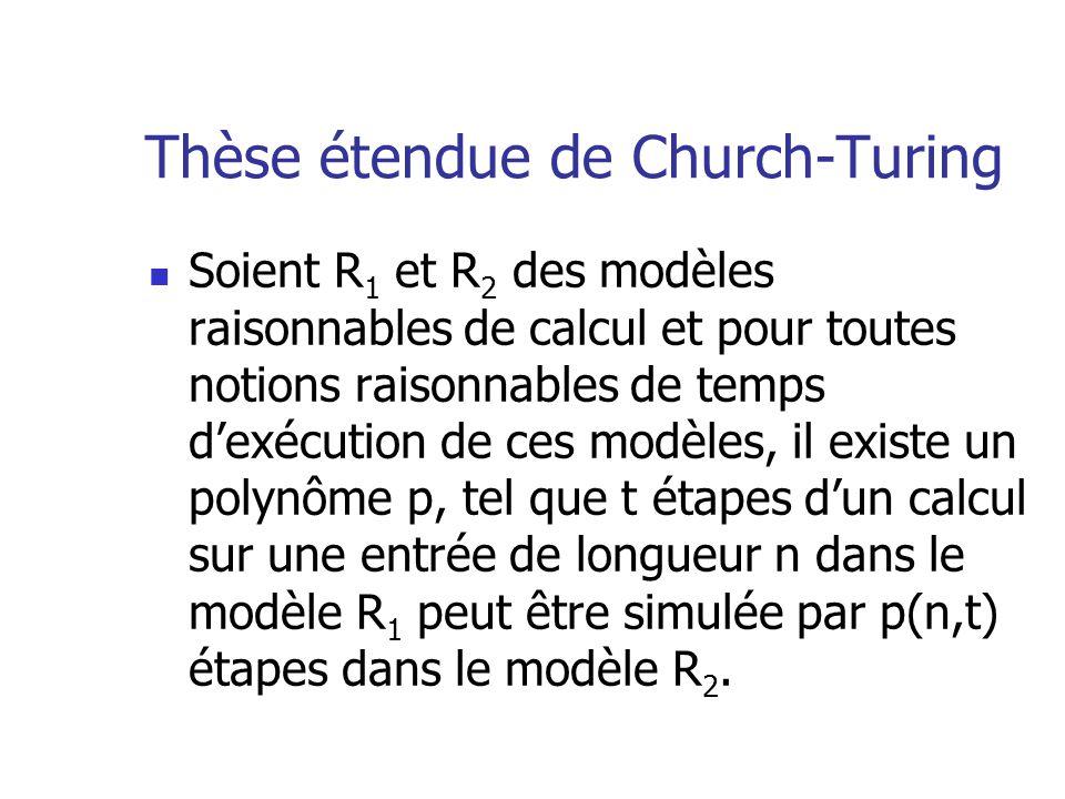 Thèse étendue de Church-Turing