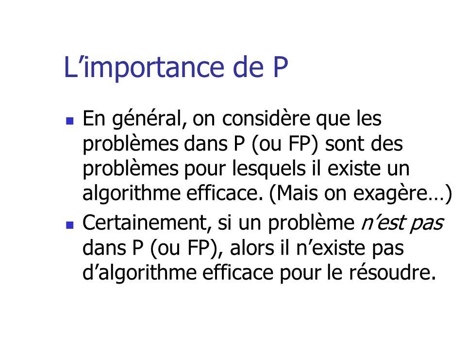 L'importance de P